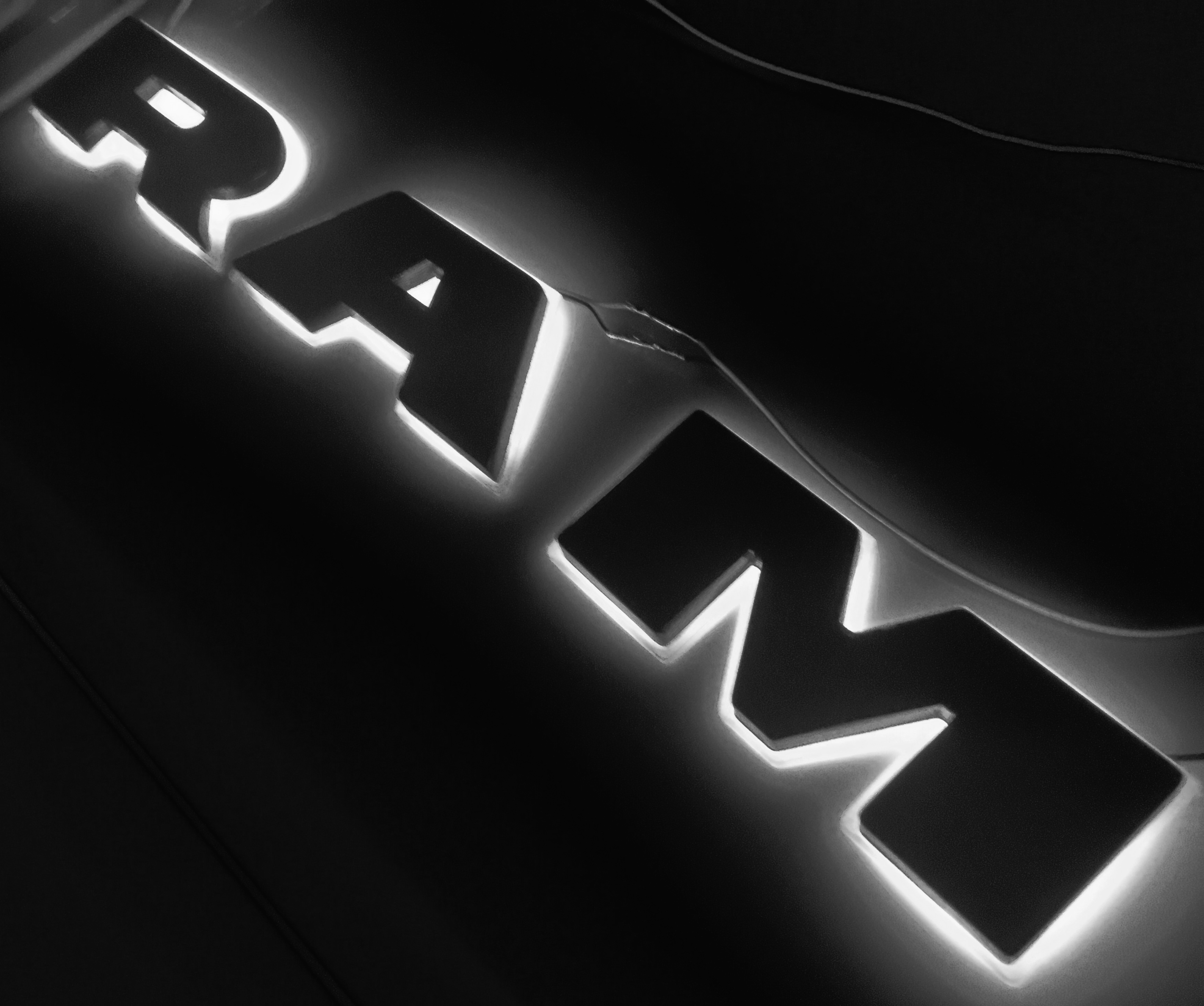 Custom Dodge Ram Led Backlit Grill Letters Harmon Customs Make A Series From The Home