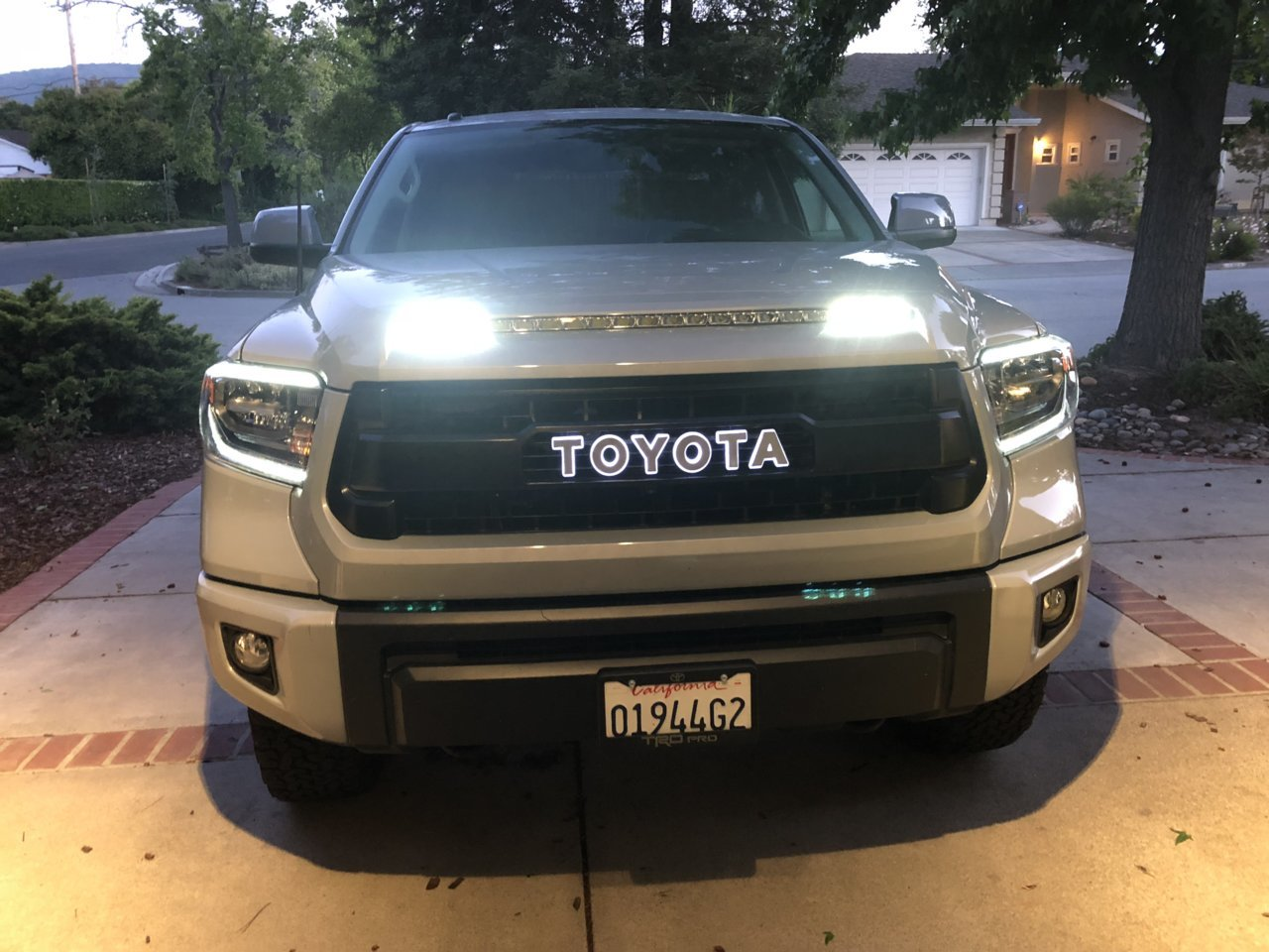 Custom Led Backlit Tundra Trd Pro Grill Letters Harmon Customs