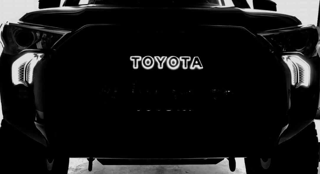 Custom Toyota 4runner Led Backlit Trd Pro Grill Letters Harmon Customs